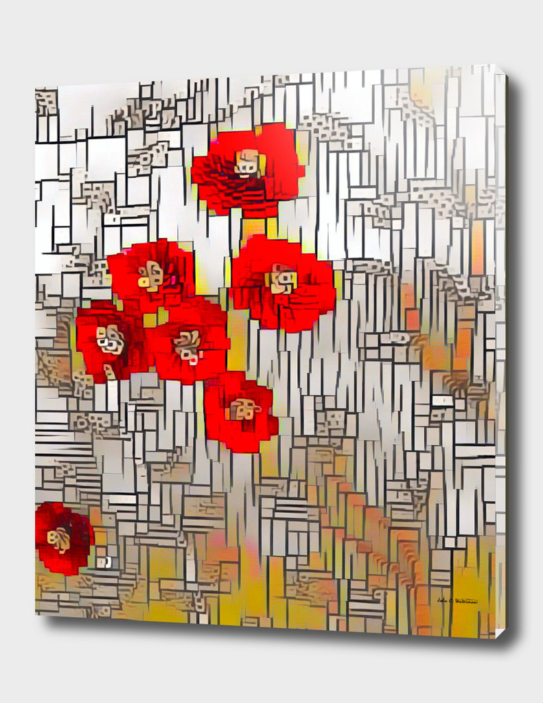 Cubism Poppies