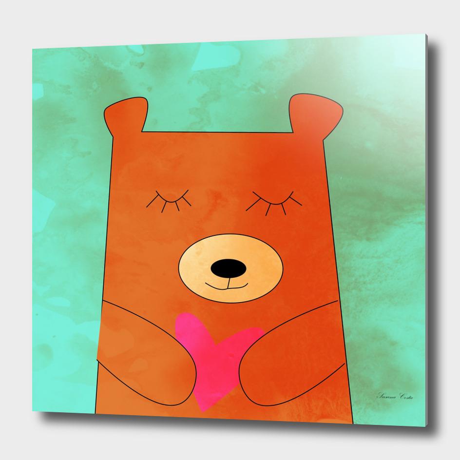 Bear in love blue