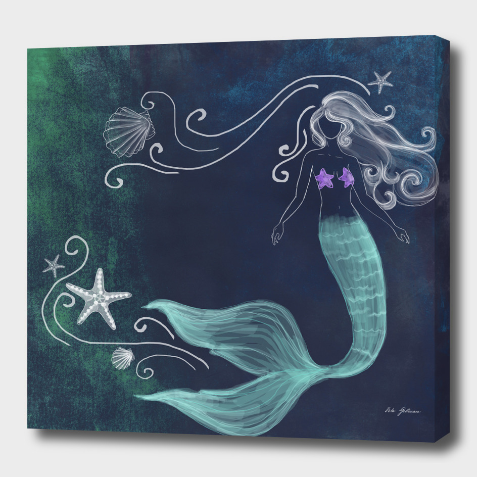 chalk mermaid