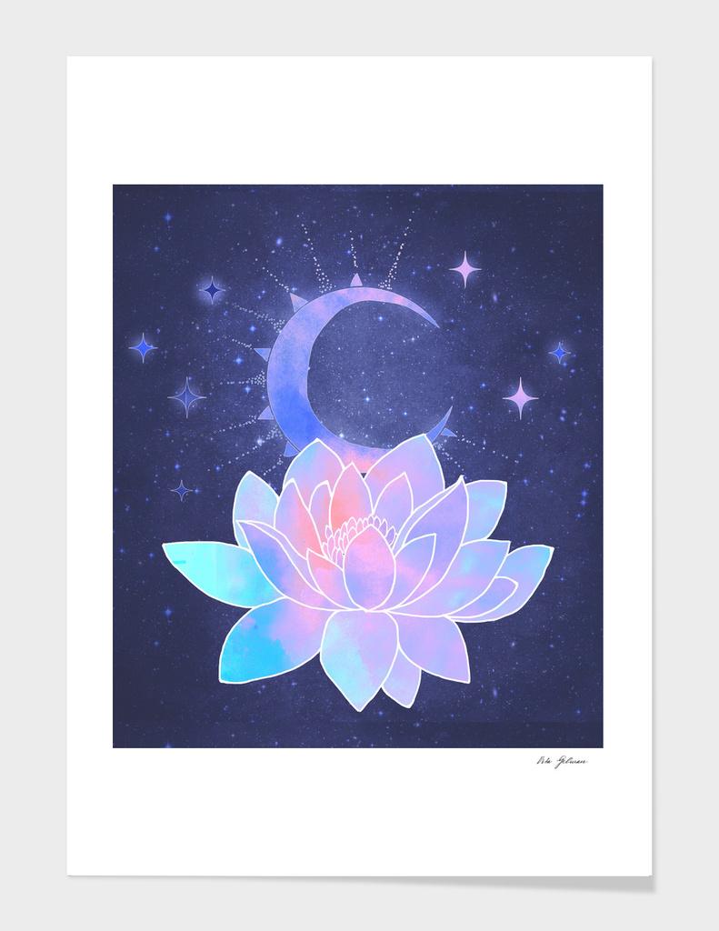 moon lotus flower