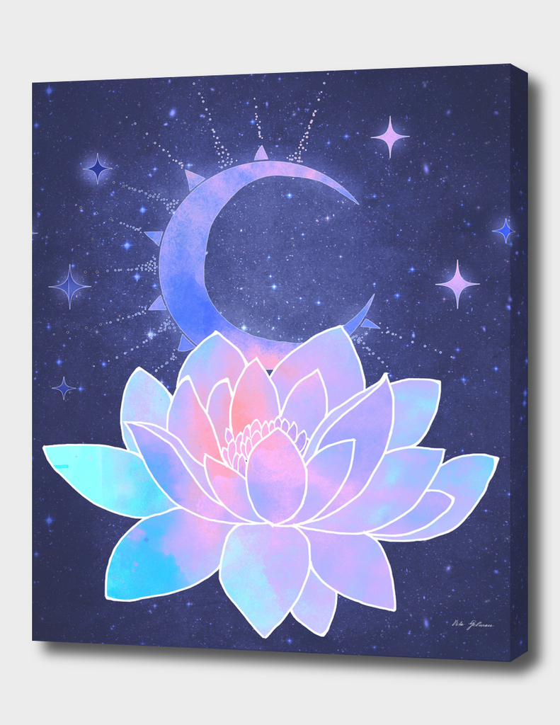 moon lotus flower
