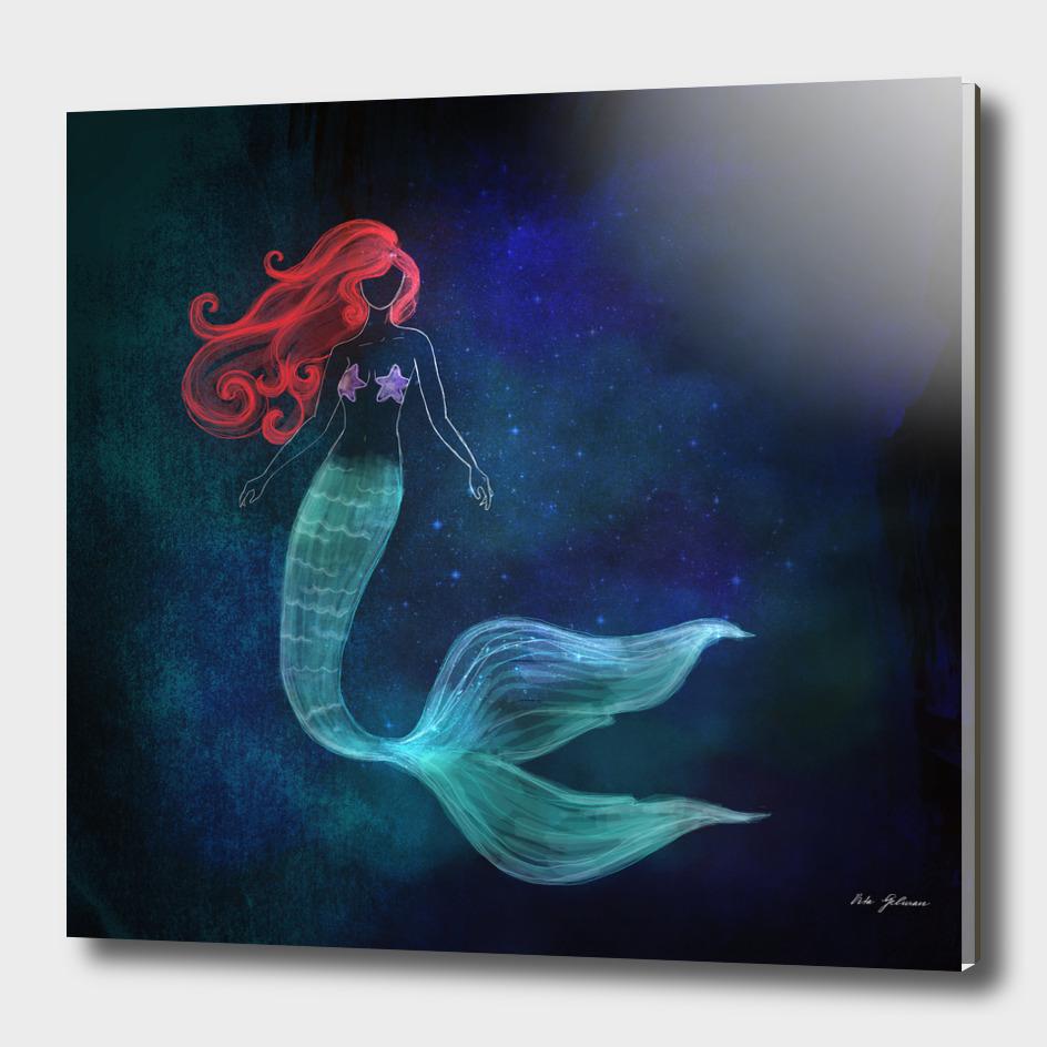 chalk mermaid #2