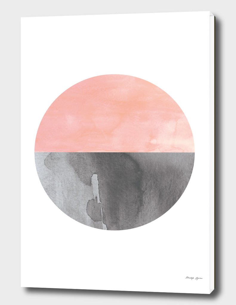 Minimal Watercolor Circle