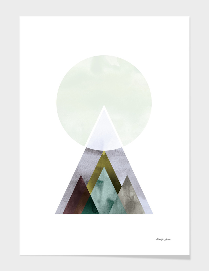 Minimal Watercolor Mountain