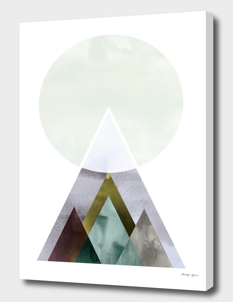 Minimal Watercolor Mountain