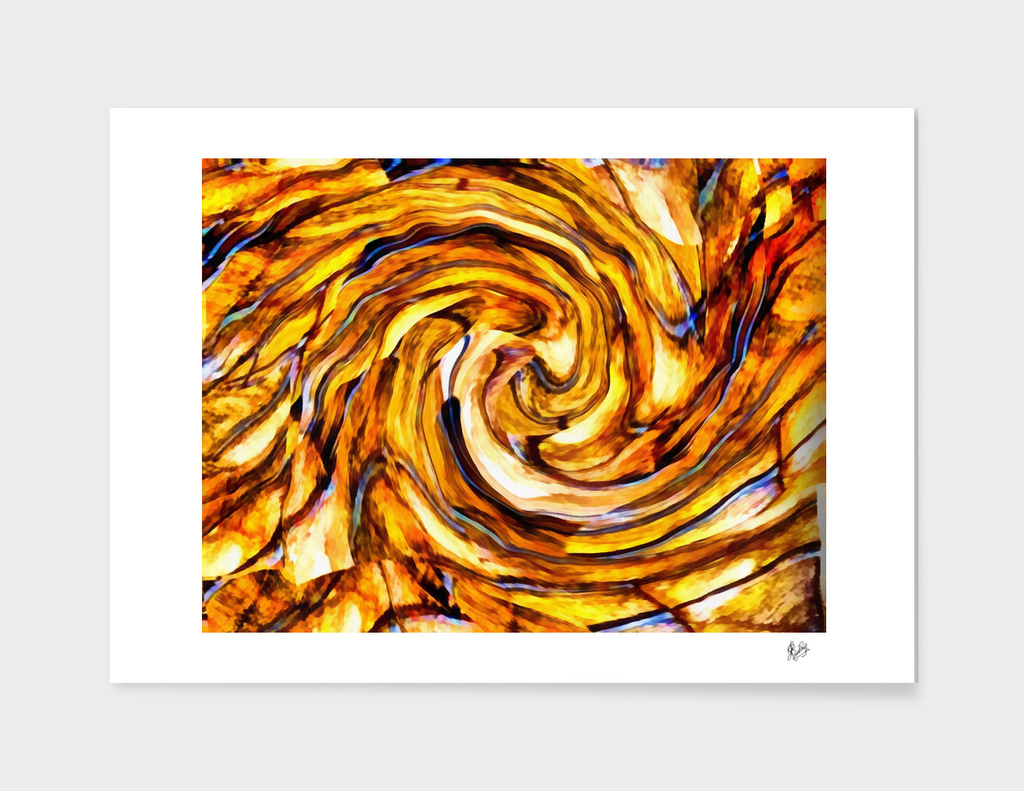 ABSTRACTICALIA - STRIPETILIA SWIRLIA IN TAN