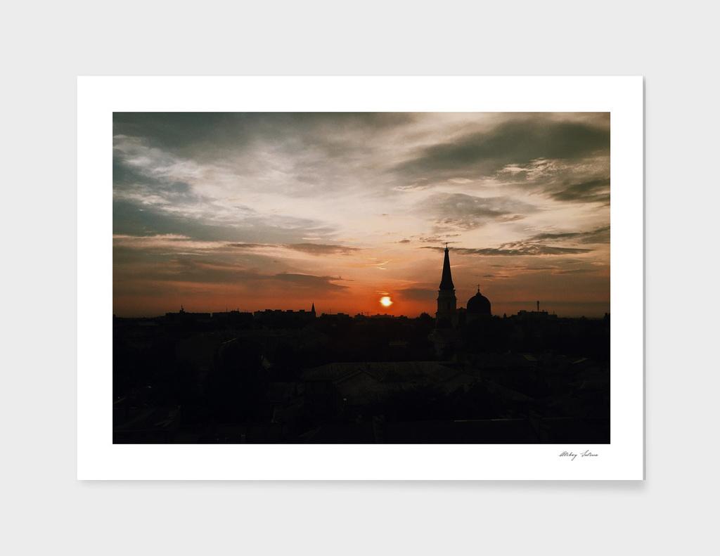 Sunset in Odessa