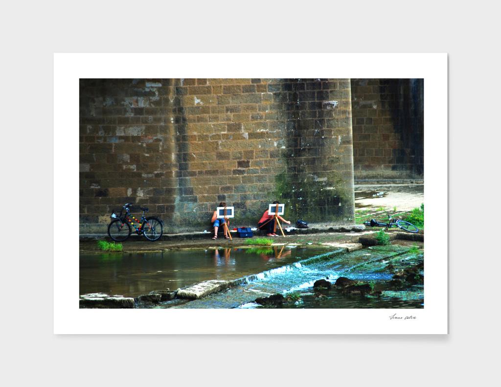 Under a bridge in Firenze