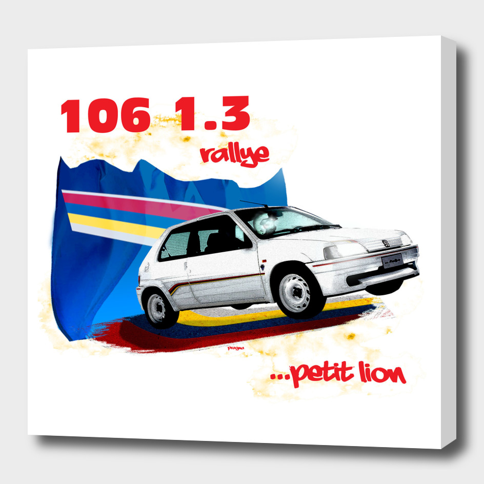 106 1.3 rallye, petit lion