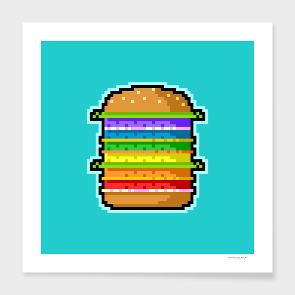 Pixel Hamburger