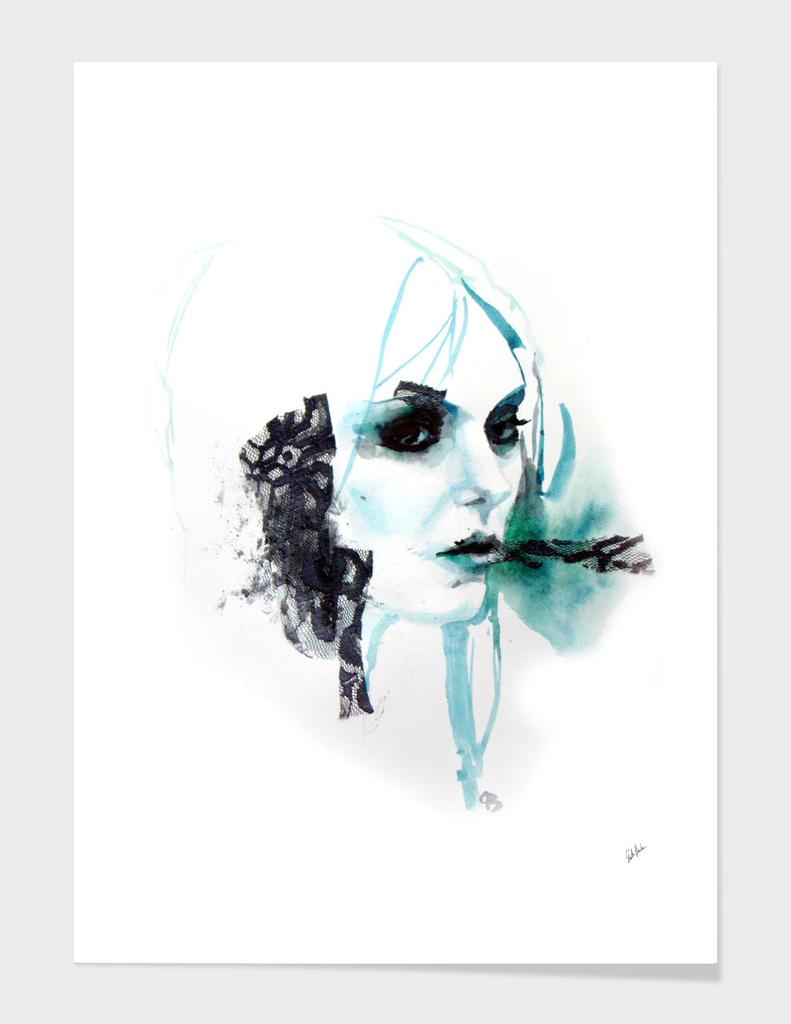 Watercolor Taylor Momsen fan art portrait