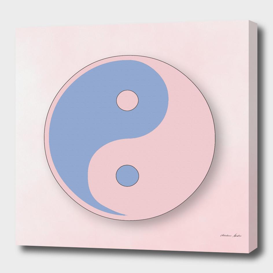 Ying Yang serenity blue and rose quarz