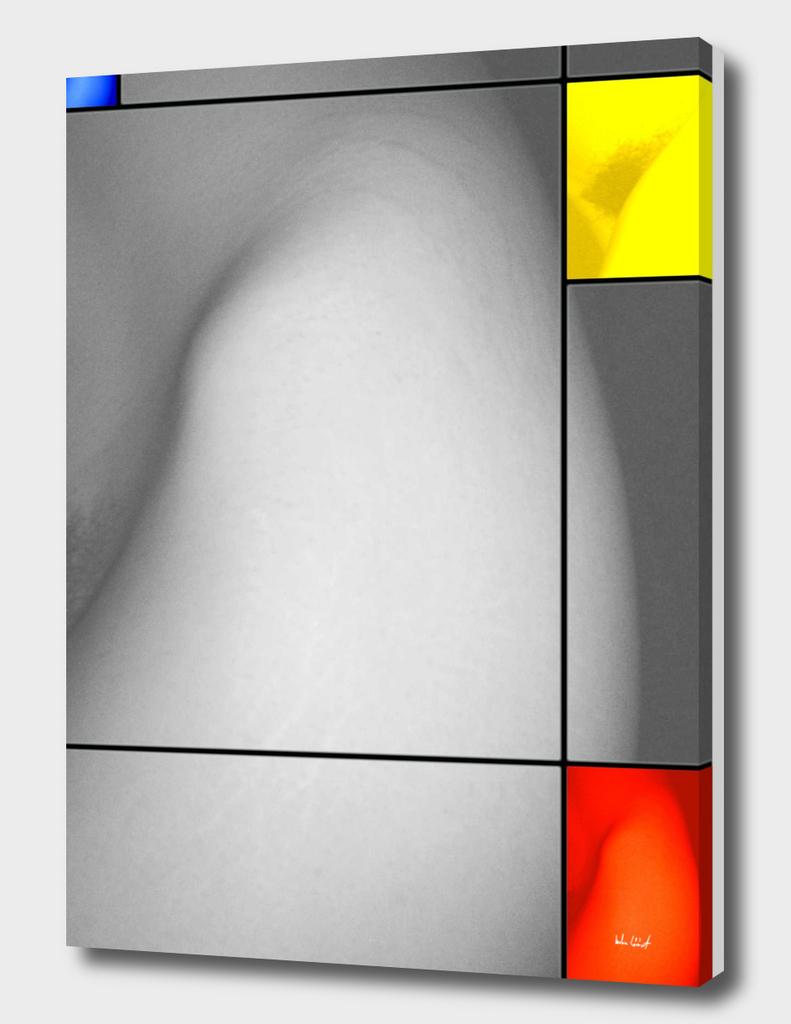 zs. és a mondrian-ritmusok (szürke struktúra színes s