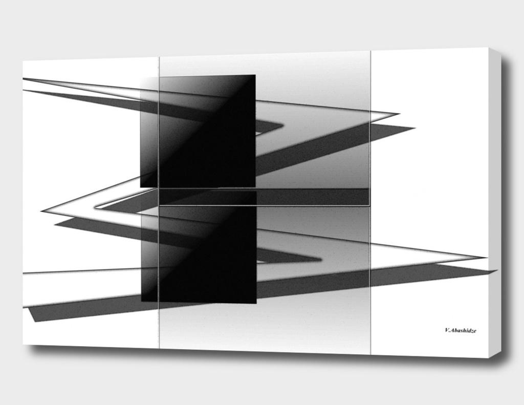 white arrows and black square