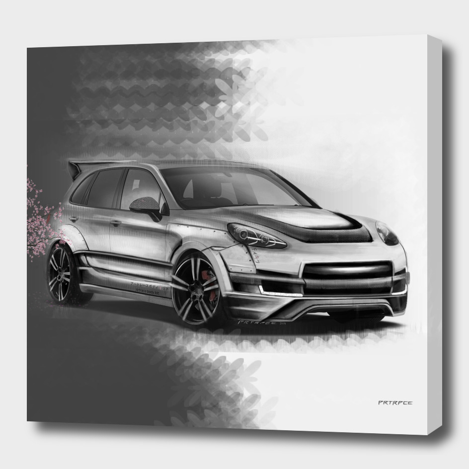 Porsche Cayenne Sakura Artrace body-kit.