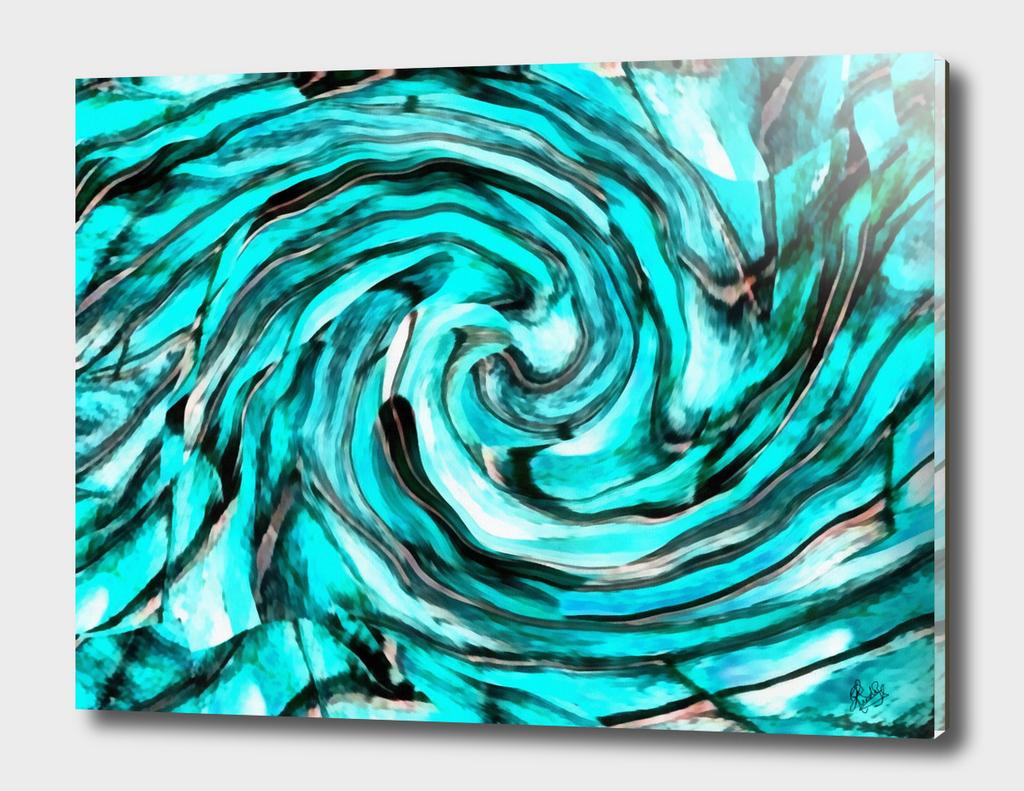 ABSTRACTICALIA - STRIPETILIA SWIRLIA IN LIGHT BLUE
