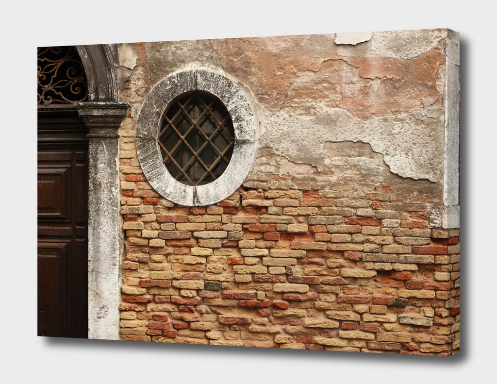 La parete con la finestra a Venezia - Italia