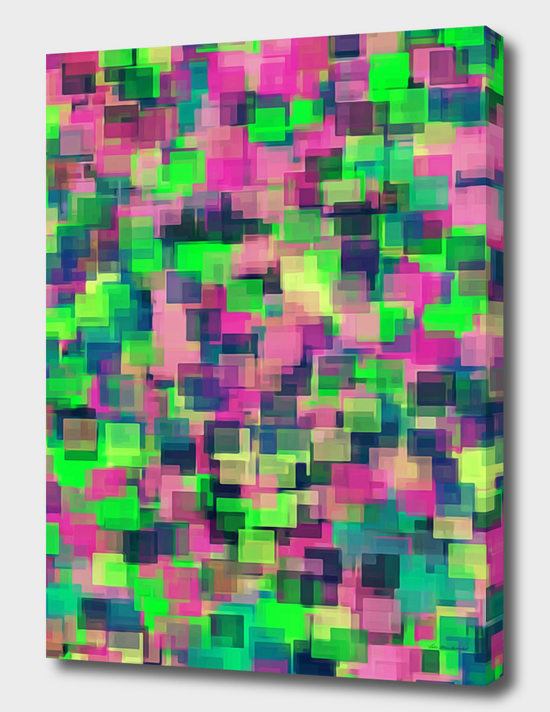 green pink and blue square pattern