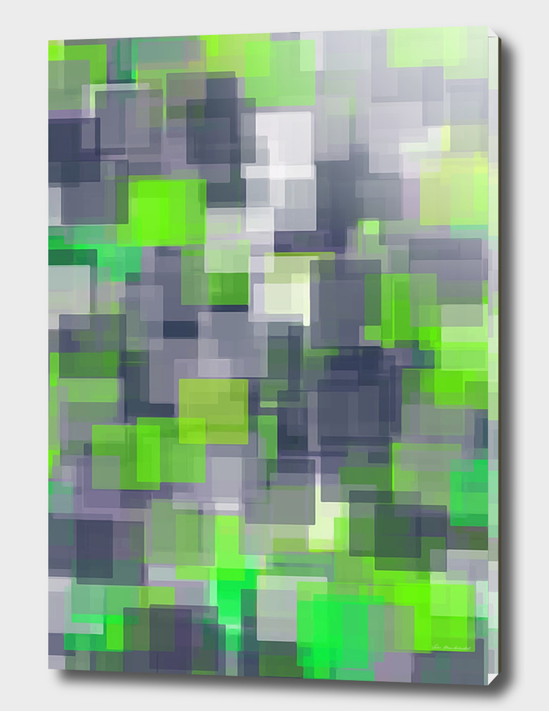 green black and white geometric square pattern abstract