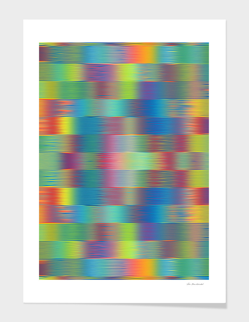 green blue pink yellow geometric painting abstract pattern
