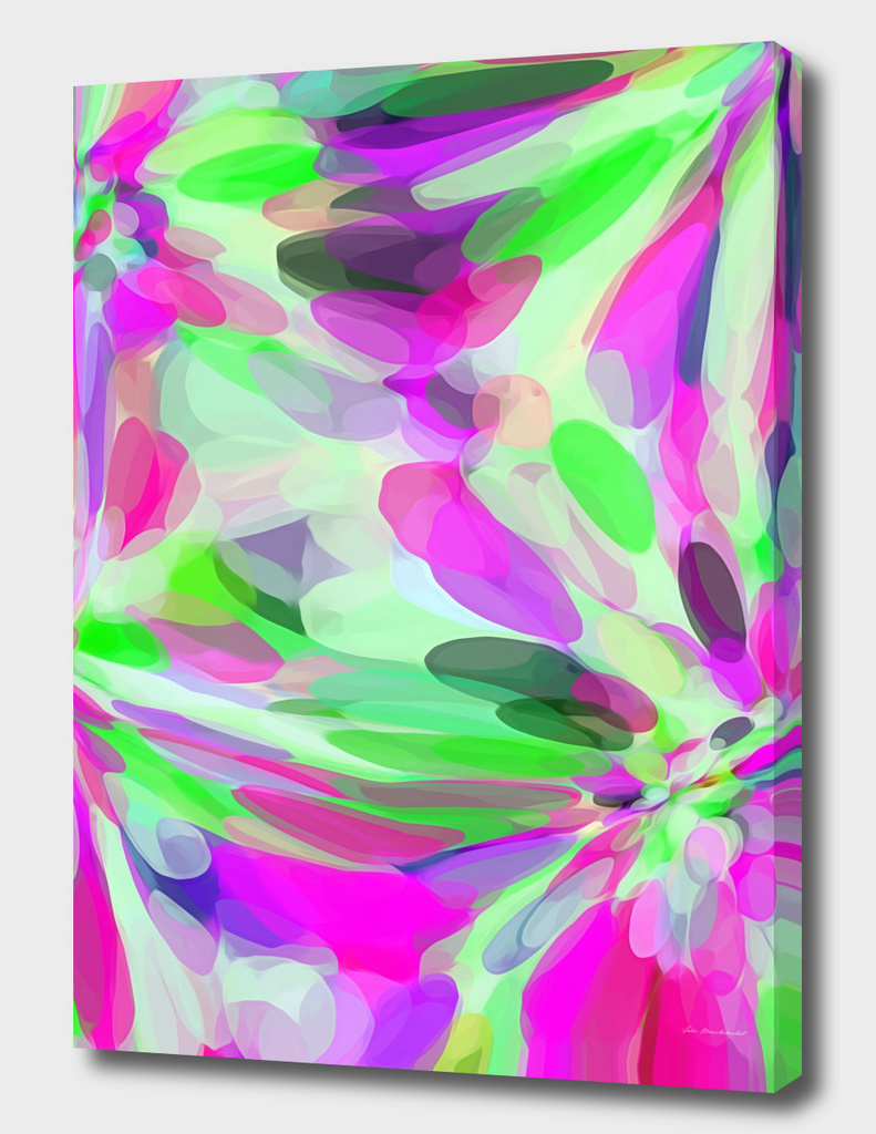 pink purple and green circle pattern abstract background