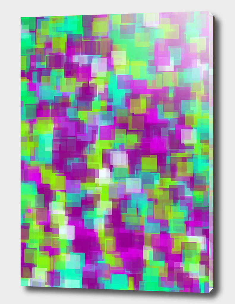 green and purple square pattern abstract