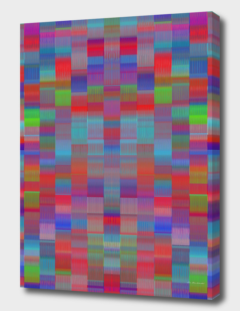 blue red green and pink plaid pattern abstract background