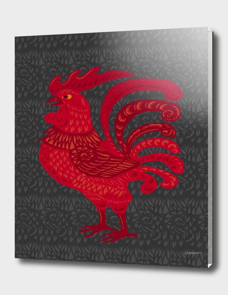 Red Fire Chicken Year