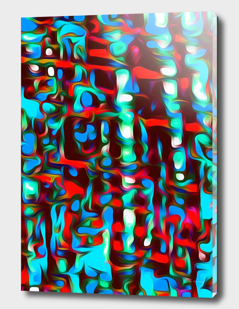 psychedelic splash painting texture abstract in red blue