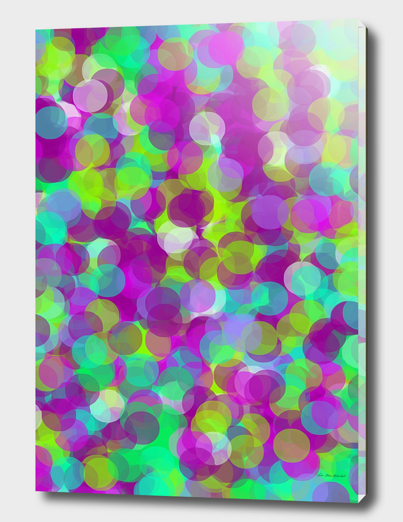 psychedelic circle pattern abstract in purple green blue