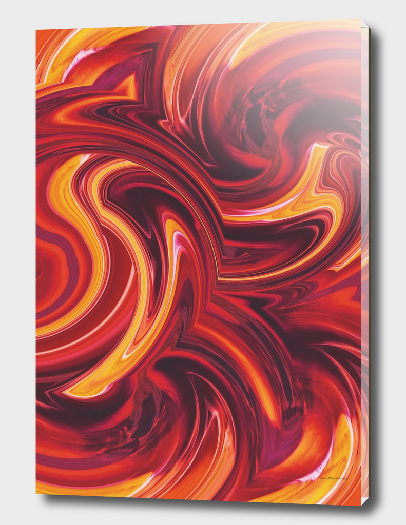 psychedelic wave pattern abstract in brown and yellow