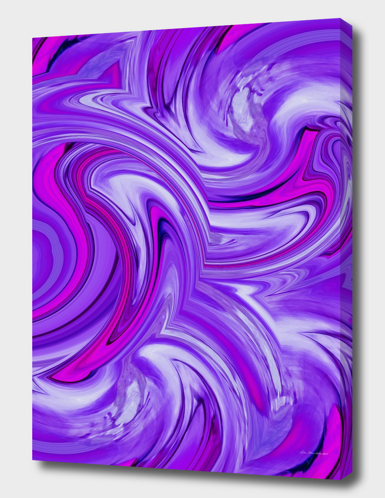 psychedelic wave pattern abstract in pink and purple