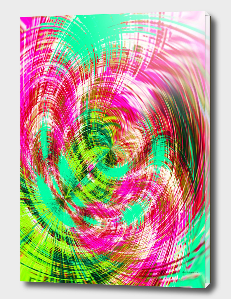 pink blue and green spiral pattern abstract background