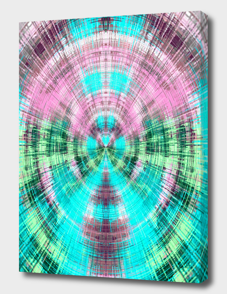 pink blue and green circle plaid pattern abstract