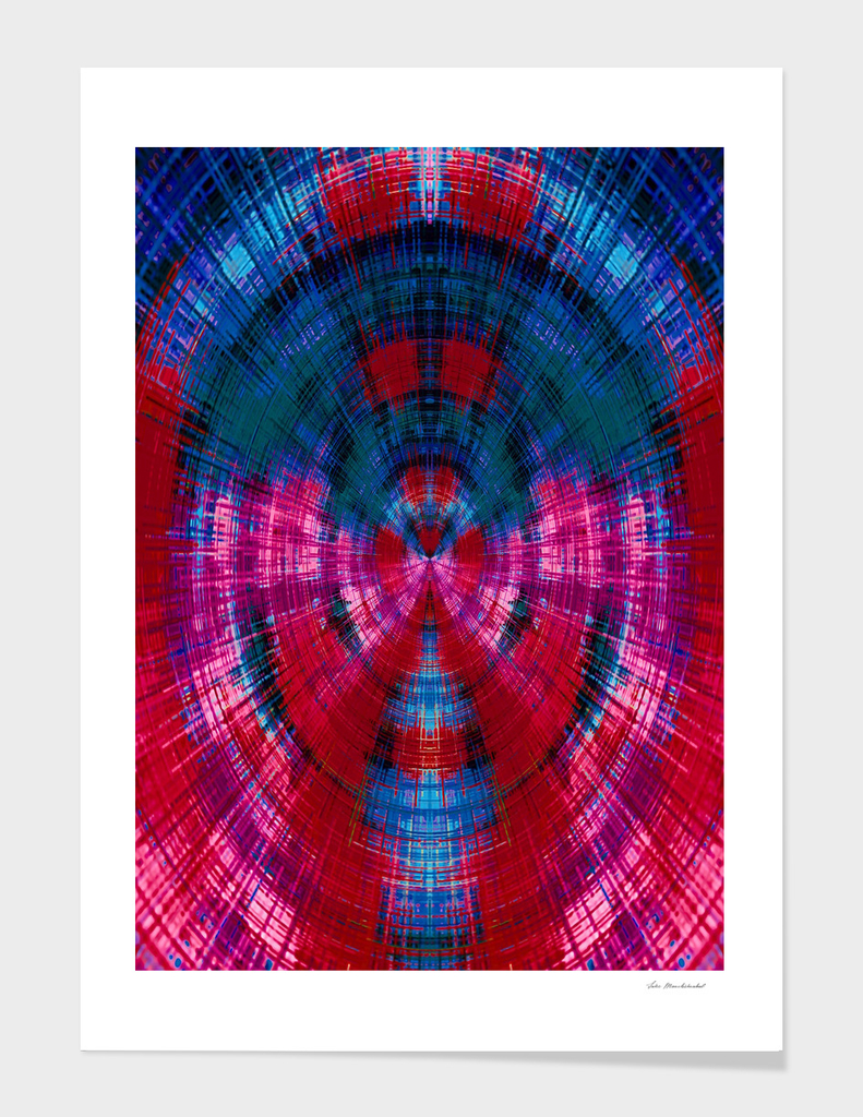 red pink purple and blue circle plaid pattern abstract