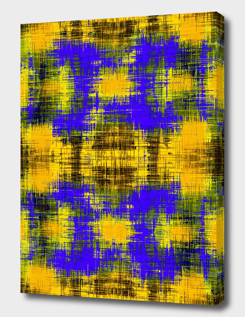 yellow purple and black plaid pattern abstract background