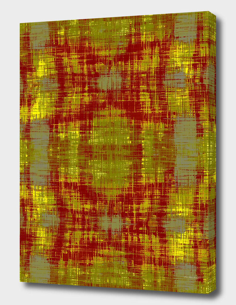 red and yellow plaid pattern abstract background