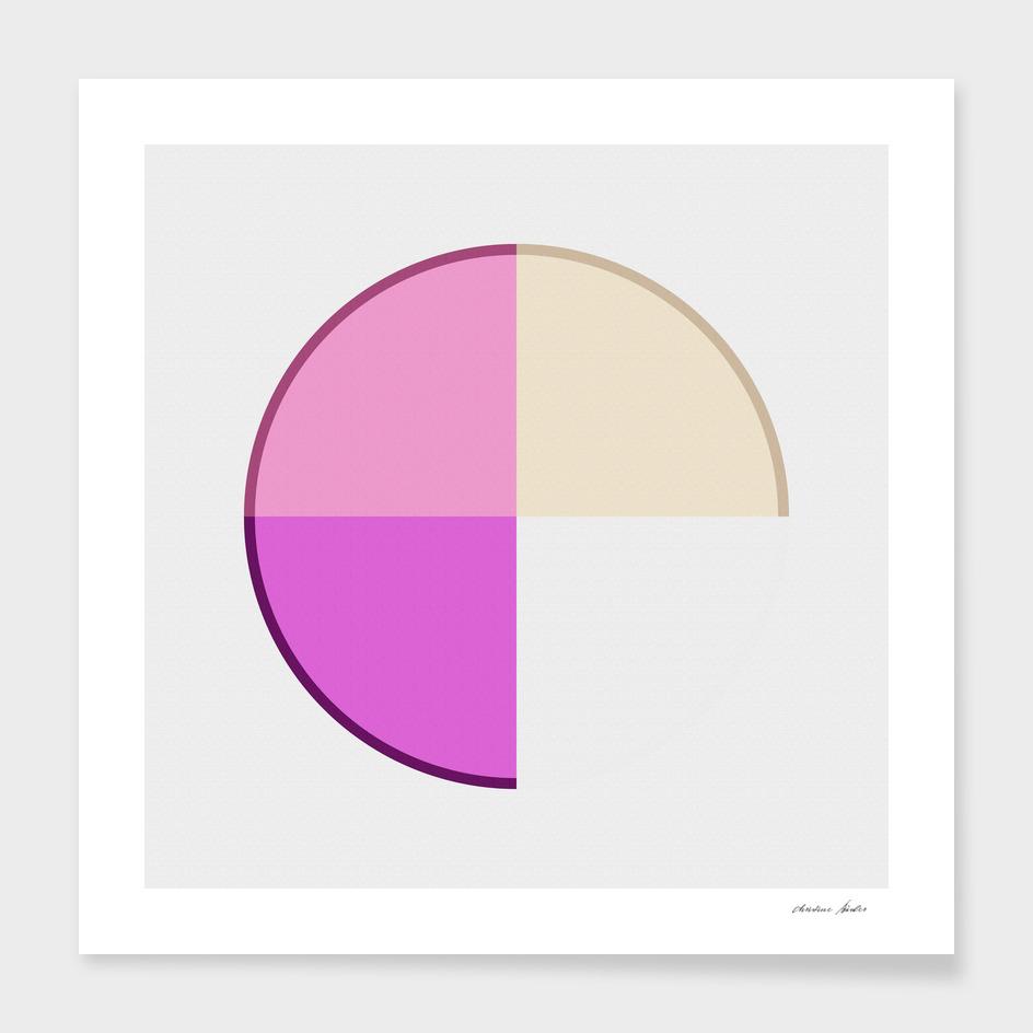 Abstract Circle pink
