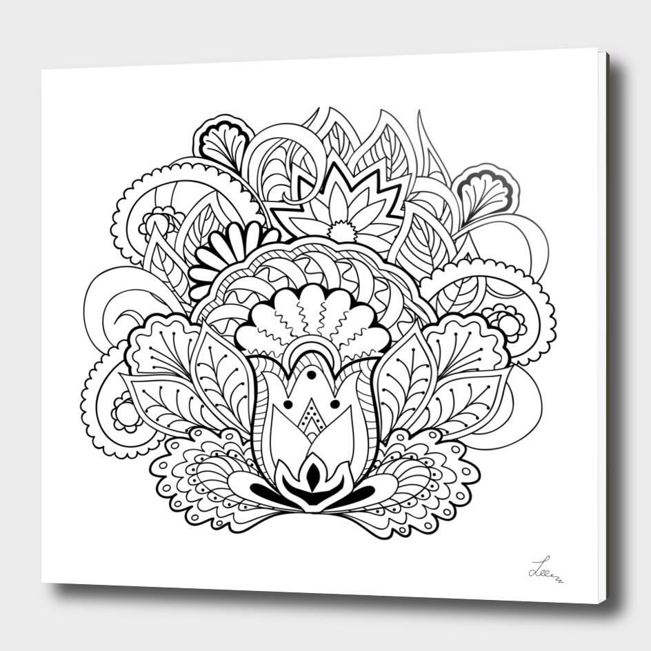 black&white zen-like composition