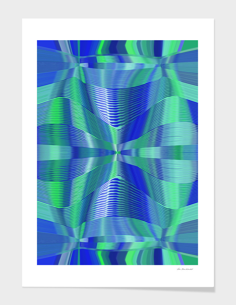 blue and green lines drawing texture abstract background