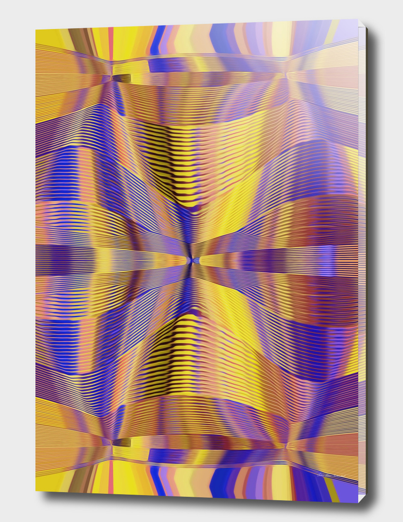 blue purple yellow and gold lines abstract background