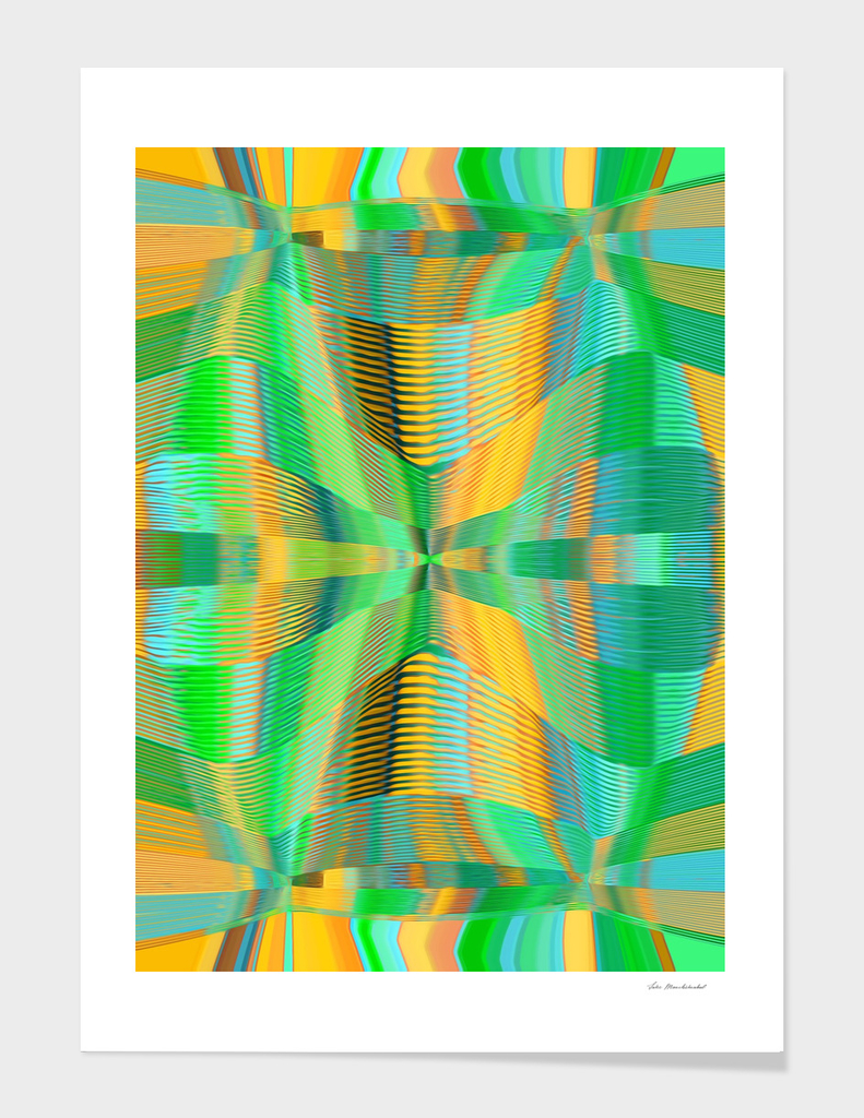 green and yellow lines drawing texture abstract background