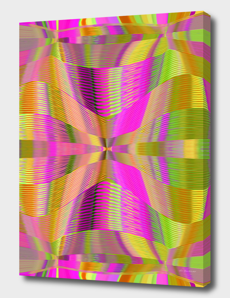 pink green and yellow lines drawing abstract background