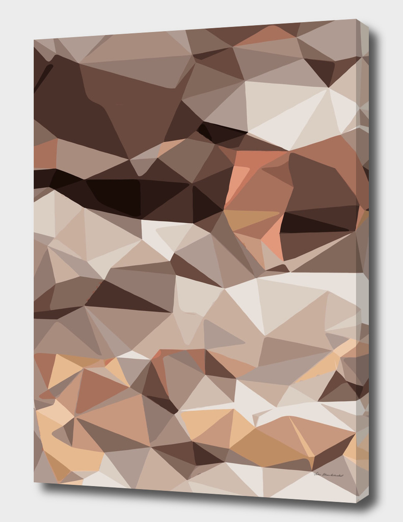 geometric polygon pattern abstract in brown and pink