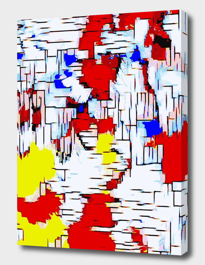 red blue and yellow drawing abstract background