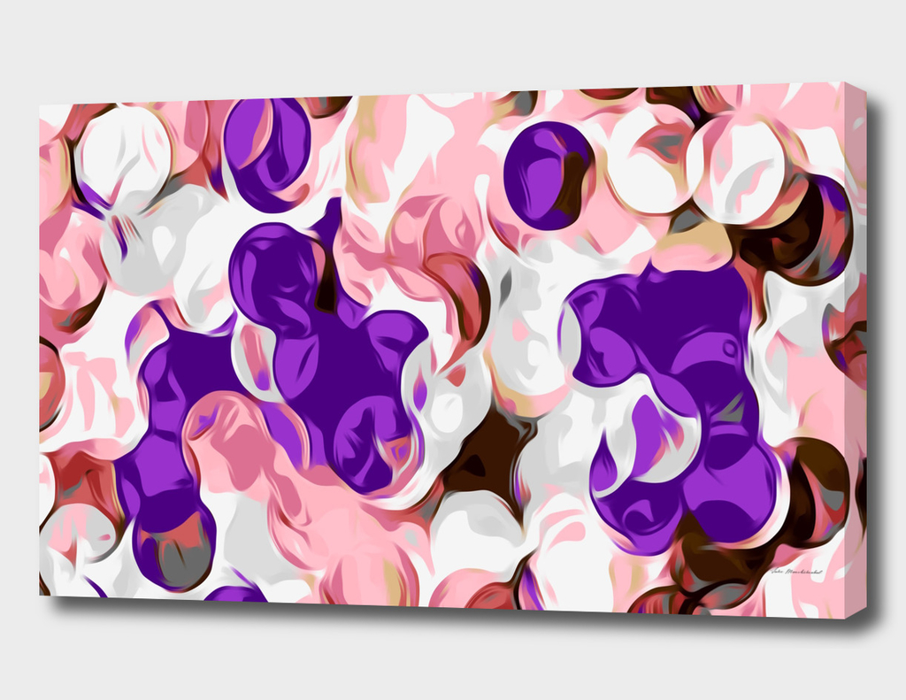 pink and purple circle pattern abstract background