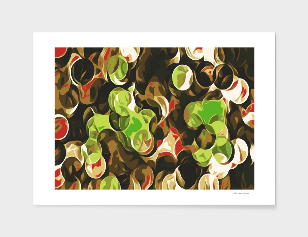 green brown and red circle pattern abstract background