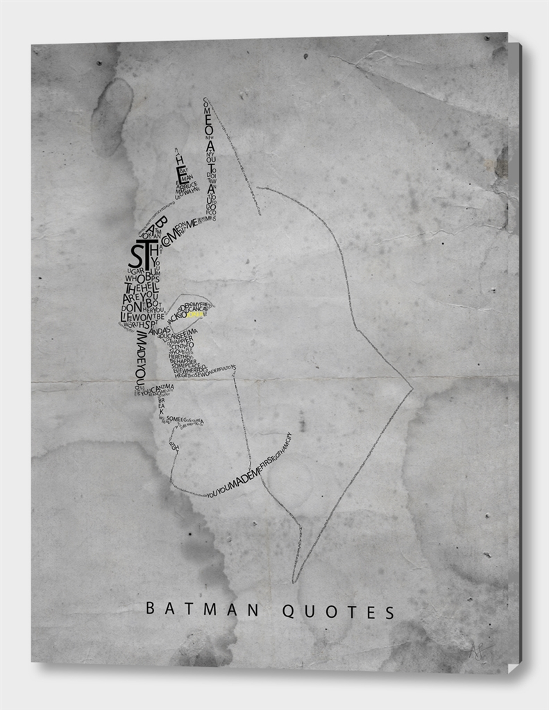 Batman Quotes - Ltd Edition