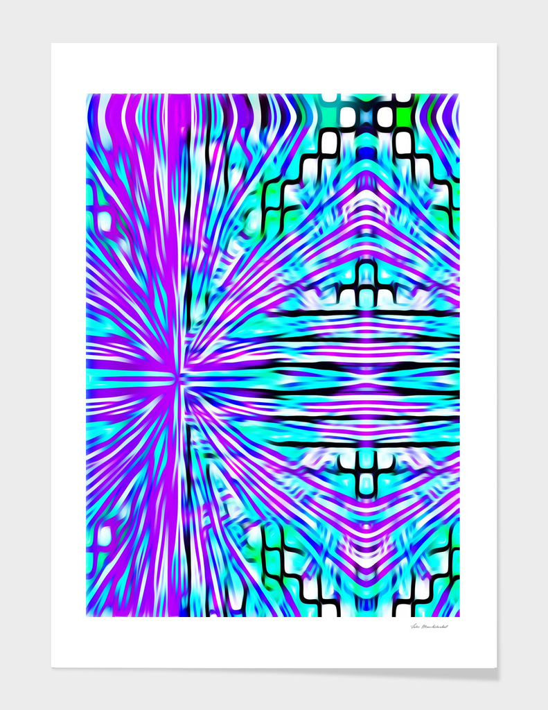 pink blue and green line pattern abstract background