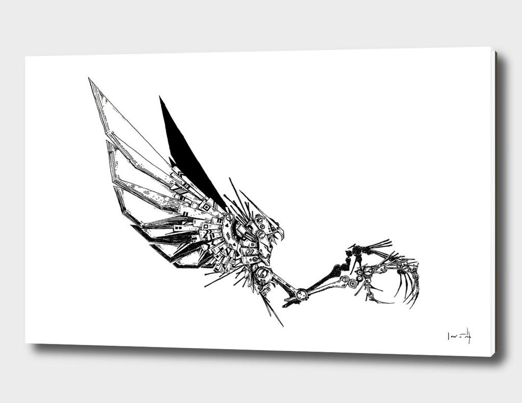 Cyberpunk Owl - line